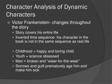 analysis of frankenstein narrative ppt character development and analysis in frankenstein
