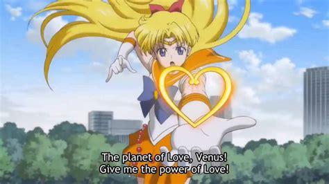 cadena de amor de sailor moon sailor moon crystal all atacks todos los ataques youtube