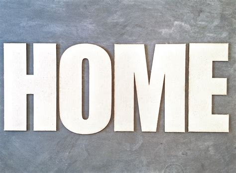 Home Letters large canvas letters