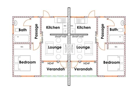 two bedroom semi detached house plan semi detached house plans home design