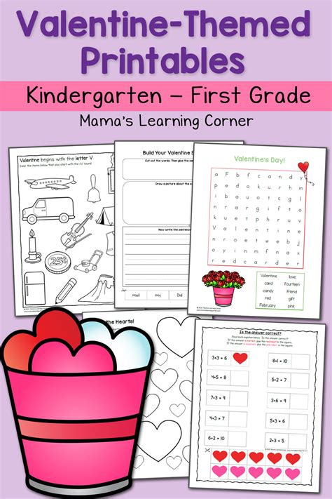 activities kindergarten first day valentine worksheets for kindergarten and first grade