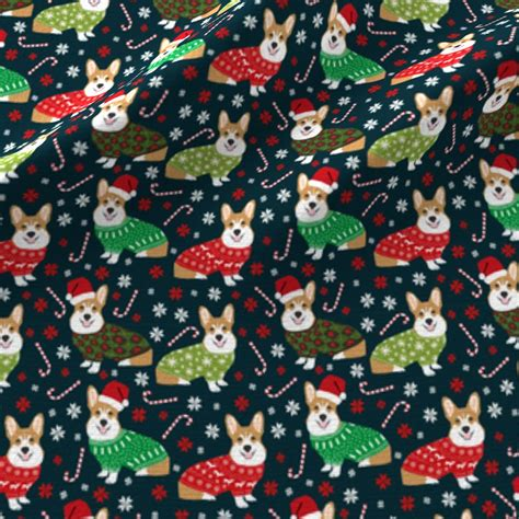 wallpaper christmas material christmas corgi fabric cute corgi sweaters ugly christmas
