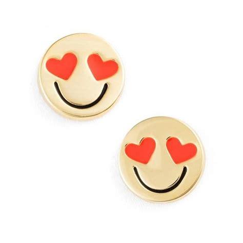 emoji earrings kate spade new york tell all emoji stud earrings gold