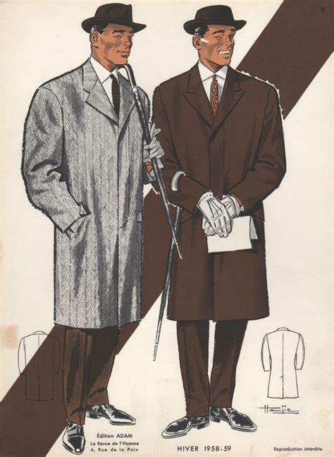 1950s fashion men and women vintage fashion print 1950s men in hats