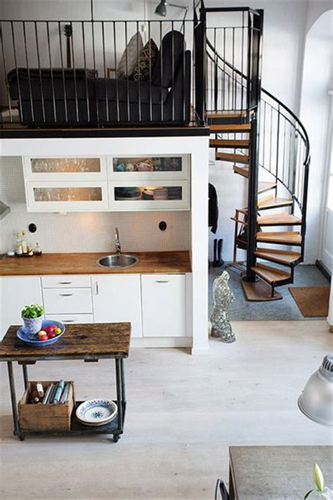 small loft nordic meets industrial in a small loft