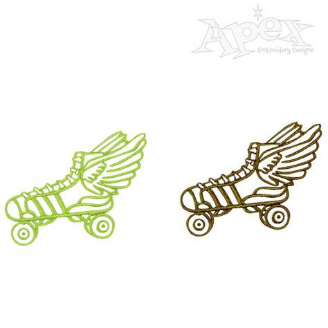 roller derby pattern roller derby skates embroidery design