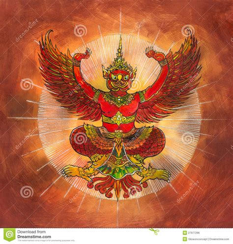garuda thai mythology eagle or bird royalty free stock