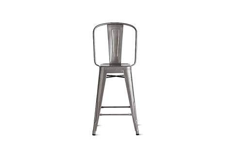 tolix bar stools with back tolix 174 marais counter stool with high back design within