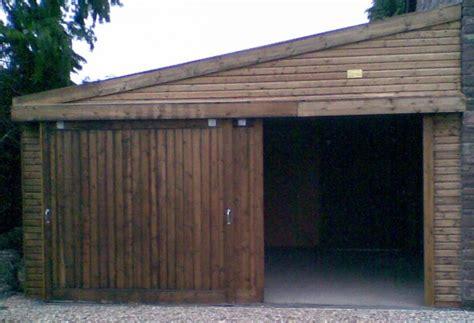 Lean To Garage by Timber Frame Garage