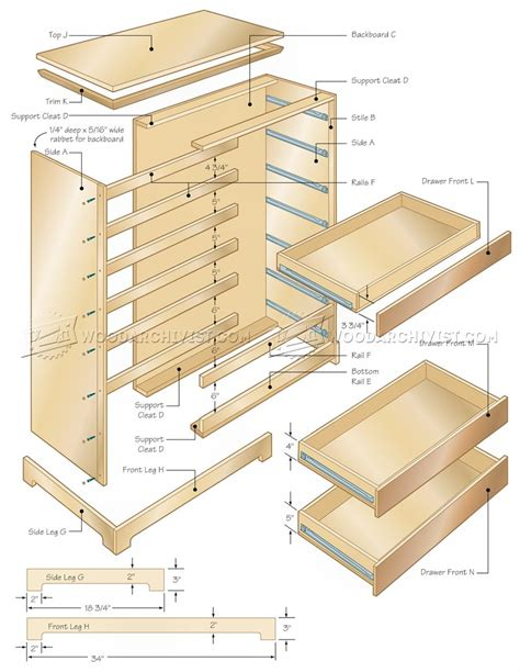 Chest Of Drawers Design Plans by Chest Of Drawers Plans Woodarchivist