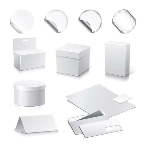 4 designer blank box vector material 2