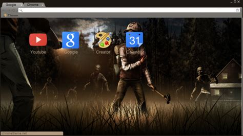 theme google chrome the walking dead the walking dead game chrome theme themebeta