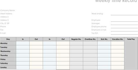 printable pdf weekly employee time sheet printable