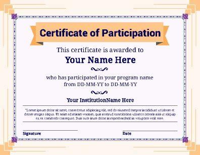 18 sample participation certificate psd pdf