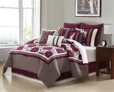 purple and taupe bedroom 10 piece queen oslo purple and taupe comforter set ebay