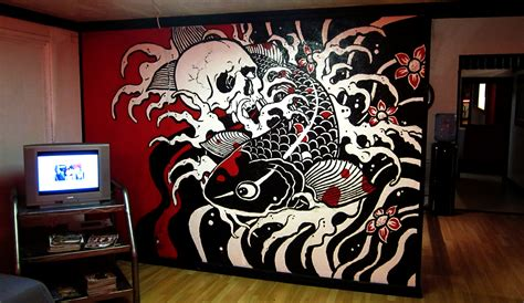 mural tattoo designs shop decorating ideas studio design gallery