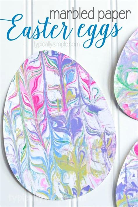 Marbled Paper Craft For - marbled paper easter eggs typically simple