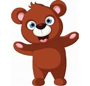 Baby Brown Bear Cartoon Posing Vector Art  Thinkstock