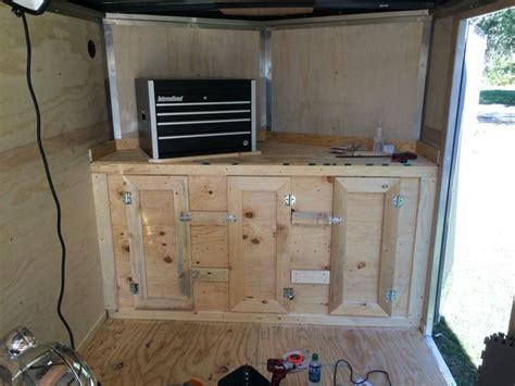 enclosed trailer cabinets for sale v nose trailer cabinet stuff i built cargo