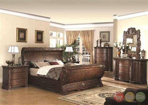 upscale bedroom furniture cannes sleigh bed traditional luxury bedroom furniture collection free shipping