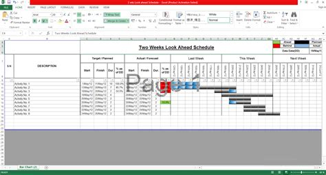Two Weeks Look Ahead Schedule Engineering Management 2 Week Look Ahead Schedule Template