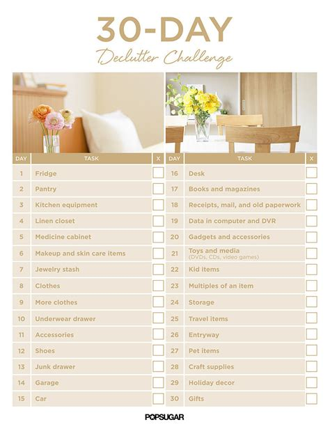 30 day declutter challenge popsugar smart living