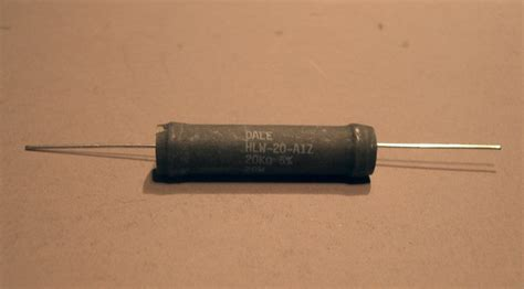 power of a resistor power resistor 20kohm 20 watt 5 hlw 20 a1z dale at the electrostore electronic