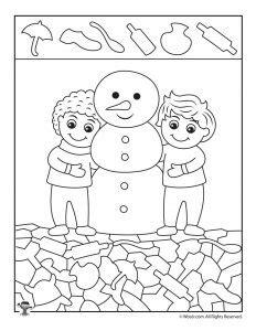 snowman hidden pictures printable winter hidden picture coloring pages woo jr kids