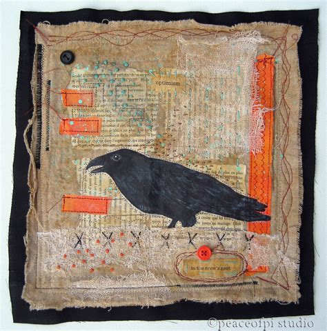 Mixed Media Quilts by Peaceofpi Studio In The S Nest Mixed Media Quilt