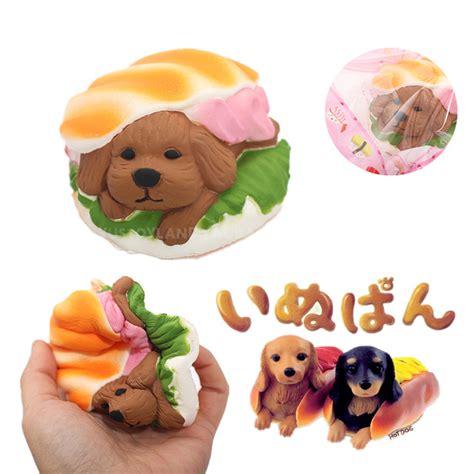 Soft And Slowrise Squishy Hotdog jumbo kawaii squishy dessert puppy doll bread bun squeeze hamburger rising soft