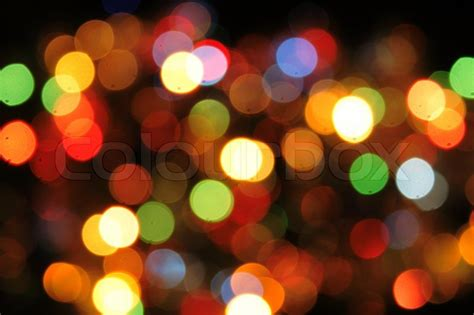 Nice Christmas Color Lights As Holiday Background Stock Lights Colored