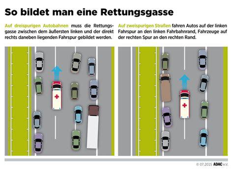 Aufkleber Rettungsgasse Kostenfrei by Wie Eine Rettungsgasse F 252 R Notf 228 Lle Bildet Regeln Und