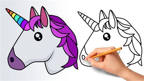 Drawing Unicorns by Unicorn Drawing Easy Emoji Clipartxtras