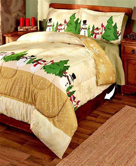jolly christmas holiday themed 3 pc reversible comforter
