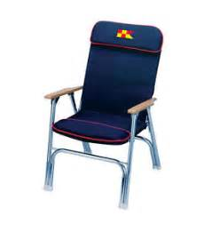 navy canvas folding deck dock boating chair nautical seat