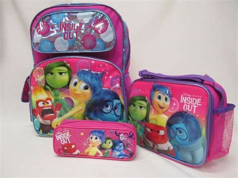 Disney Japan Inside Out Thermal Lunch Bag details about disney inside out pink 16 quot backpack