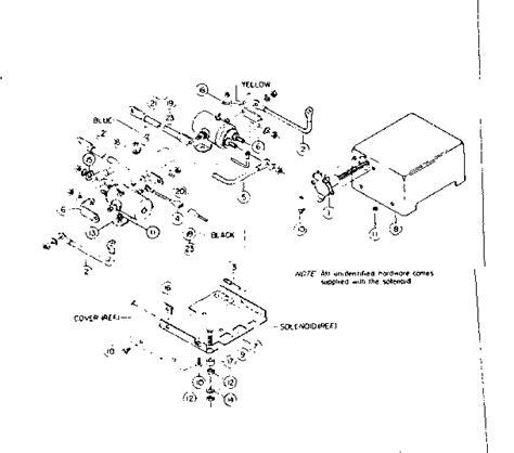 tulsa winch parts diagram solenoid assembly parts diagram parts list for model