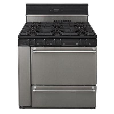 premier proseries 36 in 3 91 cu ft gas range in