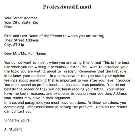 how to write a professional email template best photos of business email format formal business