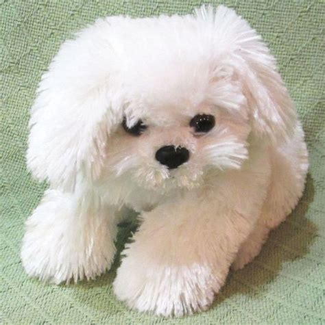 shih tzu soft white shih tzu puppy plush stuffed animal pet soft cuddly lovie