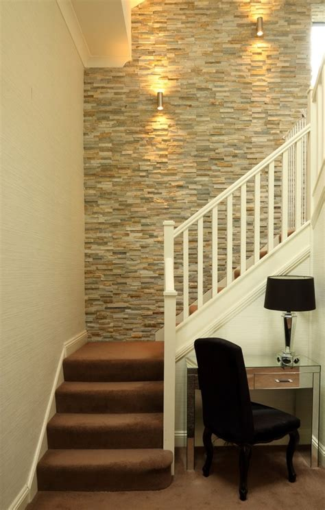 Accent Wall Staircase by Painting A Feature Wall Ideas Entry Contemporary With