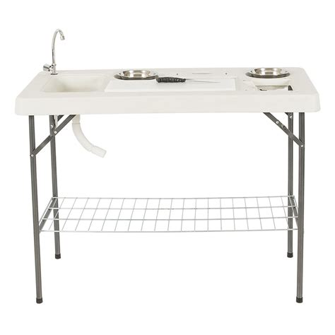 folding fish table with faucet folding portable fish table set cleaning cutting
