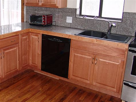 formica countertops with tile backsplash