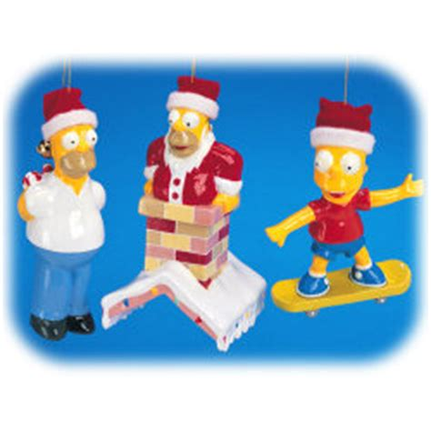 4 quot simpsons ornaments set of 3