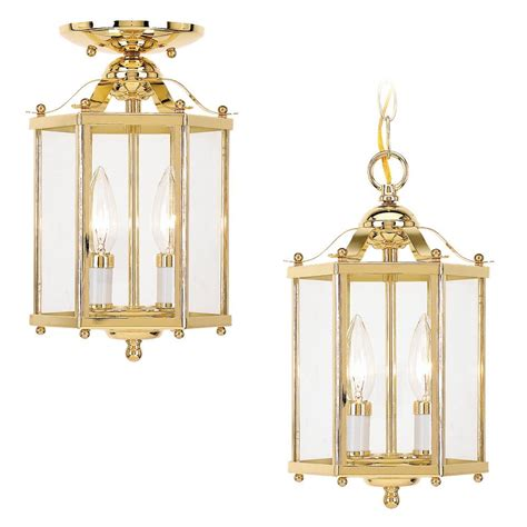 Two Light Pendant Sea Gull Lighting 2 Light Polished Brass Incandescent Foyer Pendant The Home Depot Canada