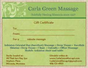 Massage Certificate Template Massage Gift Certificate Template Images