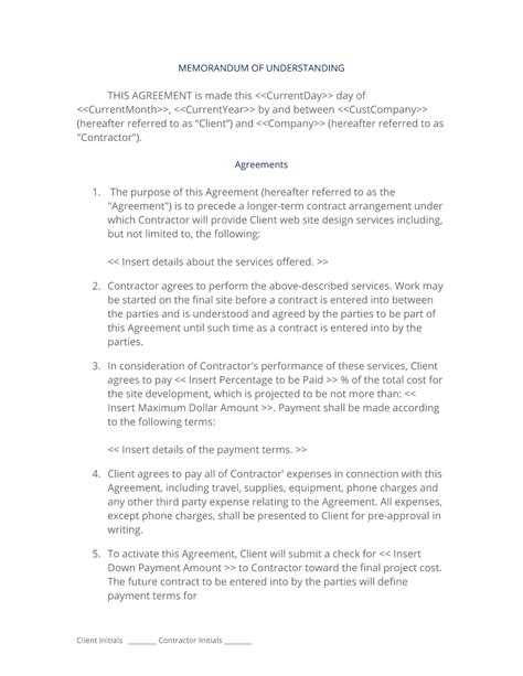 customer protection agreement template contract design protection agreement