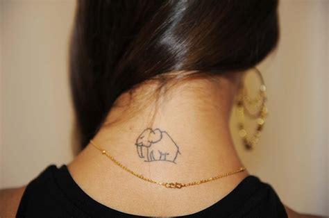 neck tattoo hide elephant neck tattoo skin blots pinterest neck