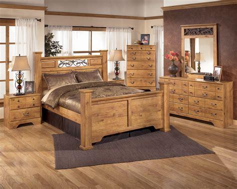 Light Brown Bedroom Set by Bittersweet Light Brown B219 4 Pc Poster Bedroom Set