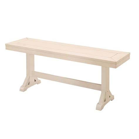 antique white wood bench 48 quot millwright wood dining bench antique white